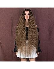 Style Icon Peruker 40 tum superlång vågig spets fram hår peruker för kvinnor hår ersättning syntetiska peruker
