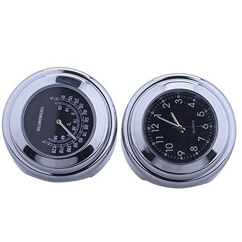 Universal Motorraduhr Motorrad Lenker Thermometer wasserdicht 25/22M schwarz Aluminium 7/8