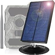 Wildlife Trail Camera Solar Panel DC 9V 1500Mah Solar Power Bank Portable Charger IP66 Waterproof Compatible f