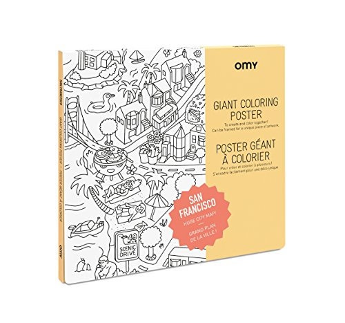 Omy Coloring Giant Poster - San Francisco - Giant Creative Play (40