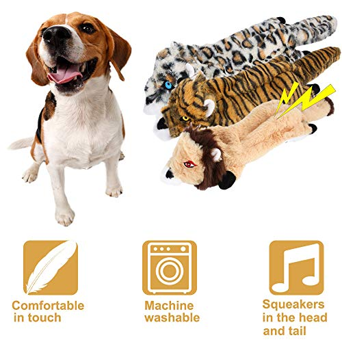 Gooswexmzl Stuffing Free Dog Toys with Squeakers for Small and Large Breeds, Chew Toys for Dogs, Dog Toy 6 Packs