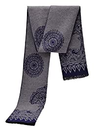Men Soft Cashmere Silk Blended Wraps Shawls Stole Scarf With Gift Box