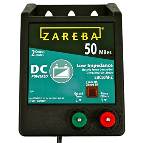 Zareba EDC50M-Z 50-Mile Battery Operated Solid State Fence Charger - Fence Charger