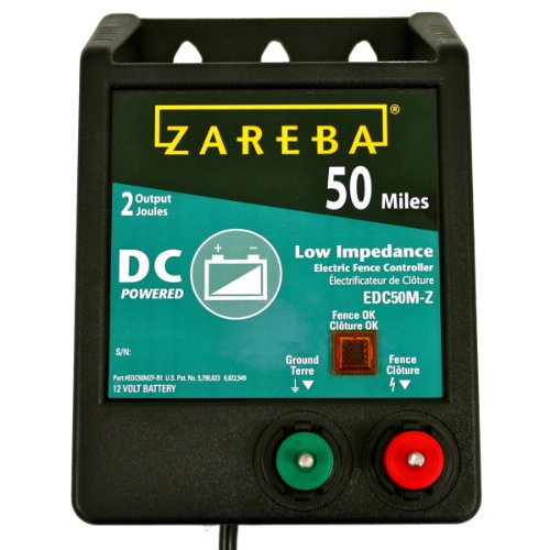 Zareba EDC50M-Z 50-Mile Battery Operated Solid State Fence Charger (Electric Fence Charger Dc compare prices)