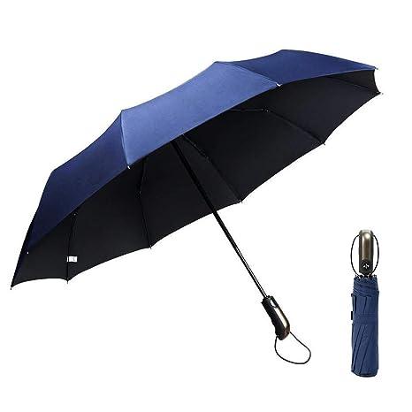 GogoTool Paraguas Plegable 118cm 10 Ribs 210T Nano Material Doble Resistente al Viento Abrir y Cerrar