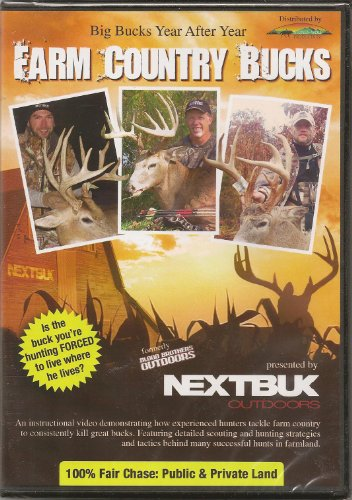 Farm Country Bucks ~ Instructional Video for Whitetail Deer Hunting DVD NEW