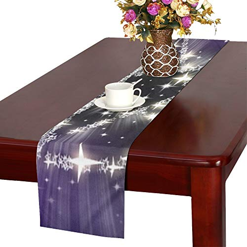 Jnseff Stars Pentagram Magic Witchcraft Halloween Table Runner, Kitchen Dining Table Runner 16 X 72 Inch For Dinner Parties, Events, Decor