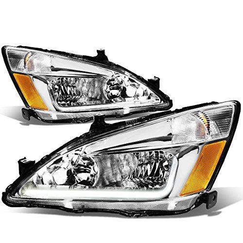 DNA Motoring HL-LB-HA03-CH-AB Chrome amber automotive-headlight-assemblies