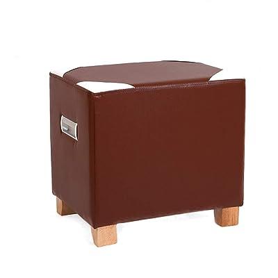 service durable Zcxbhd Repose-Pied Salon Canapé Bois Massif Cuir ...