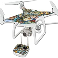 Skin For DJI Phantom 4 Quadcopter Drone – Action Fish Puzzle | MightySkins Protective, Durable, and Unique Vinyl Decal wrap cover | Easy To Apply, Remove, and Change Styles | Made in the USA
