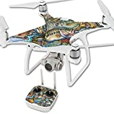 MightySkins Skin for DJI Phantom 4 Quadcopter Drone – Action Fish Puzzle | Protective, Durable, and Unique Vinyl Decal wrap Cover | Easy to Apply, Remove, and Change Styles | Made in The USA