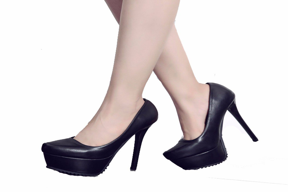 GTVERNH Comfort/women's shoes/13Cm Super High Heel With Fine Pointed Shoes Sexy Night Club Waterproof Table Shoes Sexy High Heeled Shoes.Thirty-Eight Black