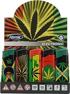 50x Atomic Elektronik Mechero F2softflame rellenable Marijuana