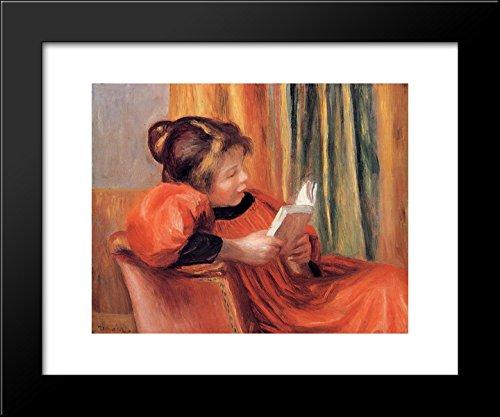 Girl Reading 20x24 Framed Art Print by Renoir, Pierre -