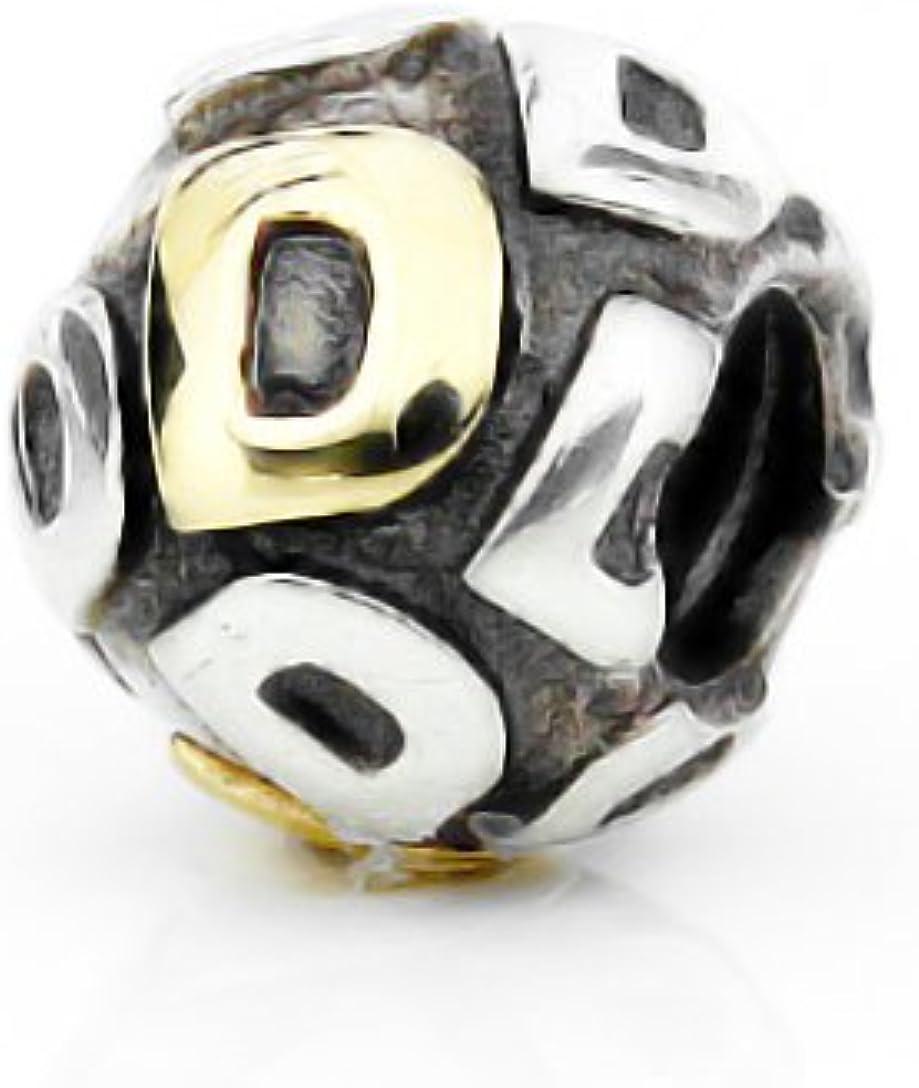 compatible avec toutes les cha/înes en or et argent amour Akki Perle en forme de lettre pendentif pour bracelet signe du zodiaque