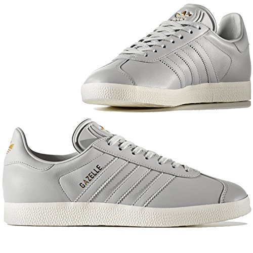 Amazon.com | ADIDAS Women's Gazelle Originals Grey/Grey/Gold Metallic  Casual Shoe BY9355 | Skateboarding