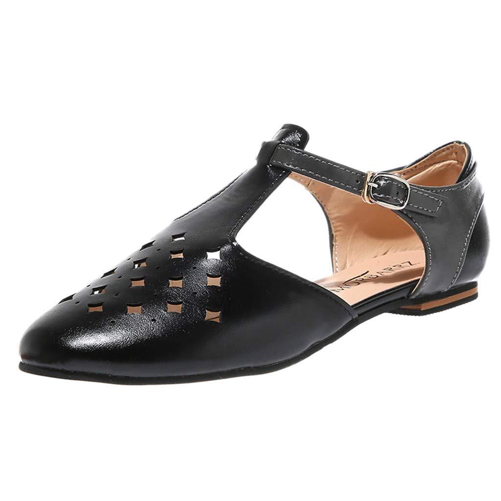 Sandals Summer Sandals Pointed Women Sandals Retro Buckle Roman Hollow Sandals Shoes Pandaie Womens ..