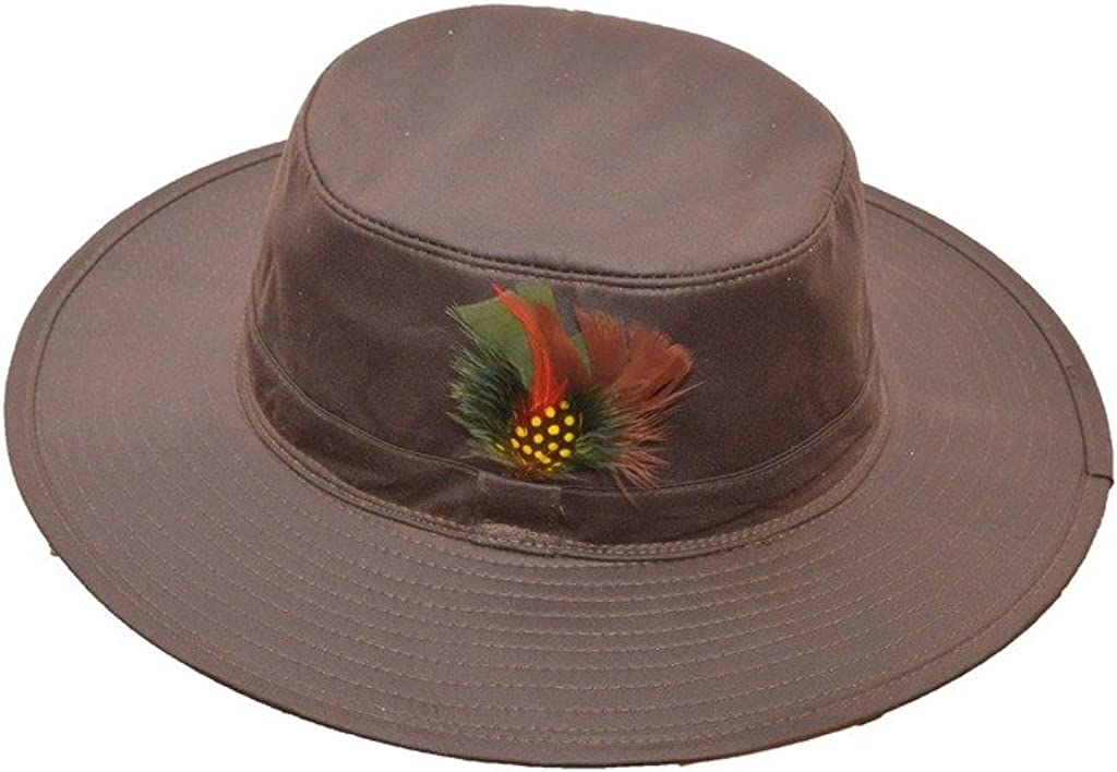 Walker /& Hawkes Brown Unisex Wax Outback Aussie Wide Brim Hat