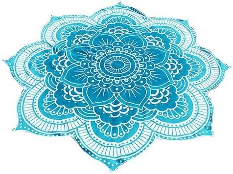 rotondo con mandala telo da spiaggia in stile indiano arazzo in stile gitano Bright Red SoundsBeauty tappetino per yoga hippy