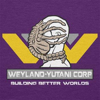 TEXLAB - Weyland Yutani Facehugger - Herren T-Shirt, Größe M, violett