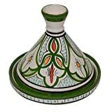 Moroccan Handmade Serving Tagine Exquisite Ceramic Vivid colors Original 6 Inches in Diameter