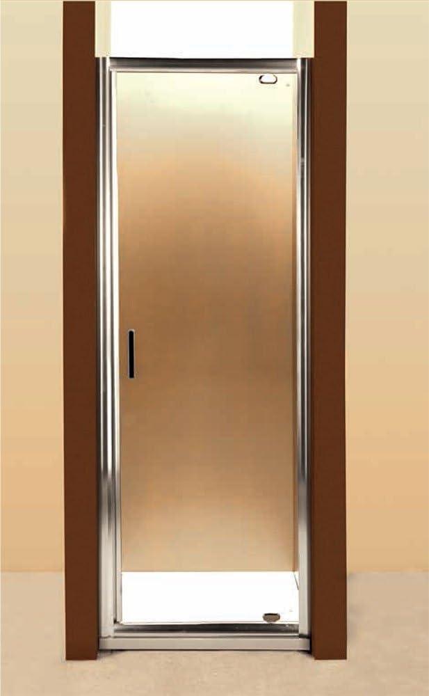 Mampara de Ducha Puerta Batiente Pivottante Cristal 88-92 h. 190 cm x 63 cm apertura: Amazon.es: Hogar
