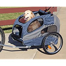 PetSafe Solvit HoundAbout Classic Steel Bicycle Trailer, Large, Bike Trailer for Dogs, Holds Pets Up To 110 lb.