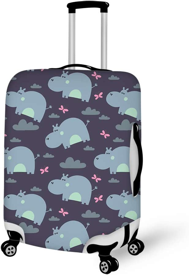 Lovely Hippo Travel Luggage Cover Suitcase Protector Fits 22-24 inch Luggage