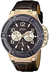 GUESS Men's U0040G3 Rigor Standout Rose Gold-Tone Multi-Function Watch