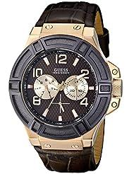 GUESS Men's U0040G3 Rigor Analog Display Quartz Brown Watch