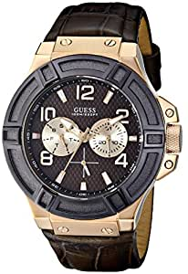 GUESS Men's U0040G3 Rigor Standout Rose Gold-Tone Multi-Function Watch