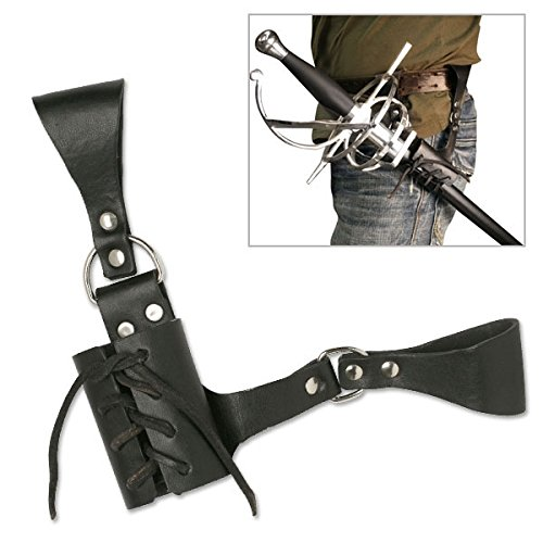 Costumes Overalls (BladesUSA PK-6182 Universal Leather Sword Frog 8-Inch Overall)