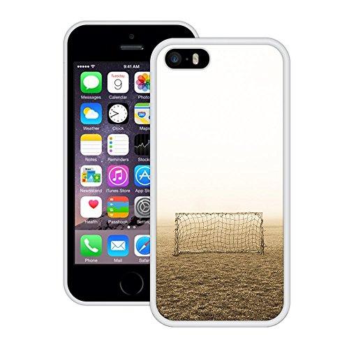 Fußballtor | Handgefertigt | iPhone 5 5s SE | Weiß Hülle