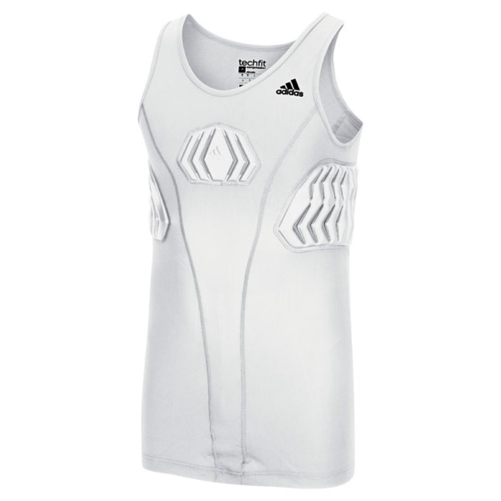 Adidas Mens Padded Basketball Tank 2XLT White