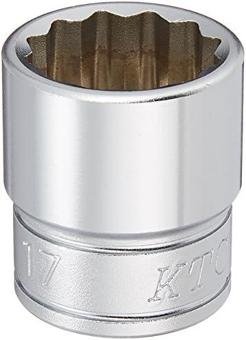 京都機械工具(KTC) ソケットレンチ 12角 B3-17W 対辺寸法:17.0×差込角9.5mm