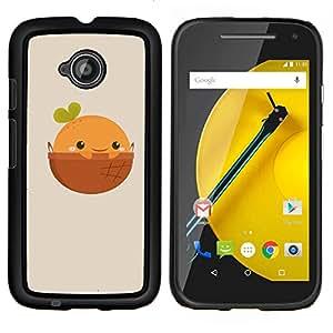 For Motorola Moto E2 E2nd Gen Case , Naturaleza Cliff Castle- Diseño Patrón Teléfono Caso Cubierta Case Bumper Duro Protección Case Cover Funda