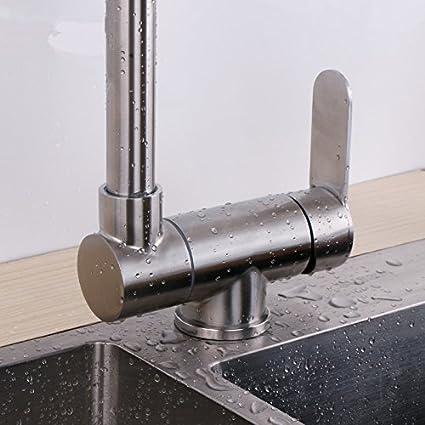YAWEDA 304 cocina de acero inoxidable agua caliente y fría ...