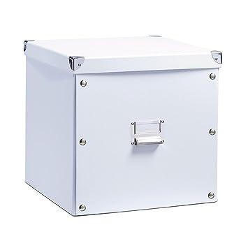 Zeller 17620 Boite de rangement en carton blanc, 33,5 x 33 x 32 cm ...