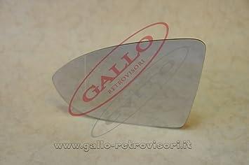 Curvo Specchio Retrovisore specchietto esterno Destro Cromato Solo Vetro con Biadesivo