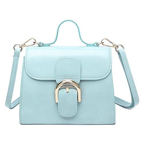 Moda Retro Blue Bolso Bolsa Pink Brown Bolso Bolsa Bolsa Meaeo aqKxd5FwRa