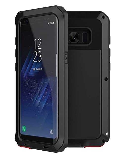best cheap cb48b a0ca9 Shockproof Case For Samsung Galaxy S8 Plus Aluminum Metal Case,[Military  Heavy Duty]Extreme Shock/Dust/Dirt/Snow Proof Cover Case (Black)