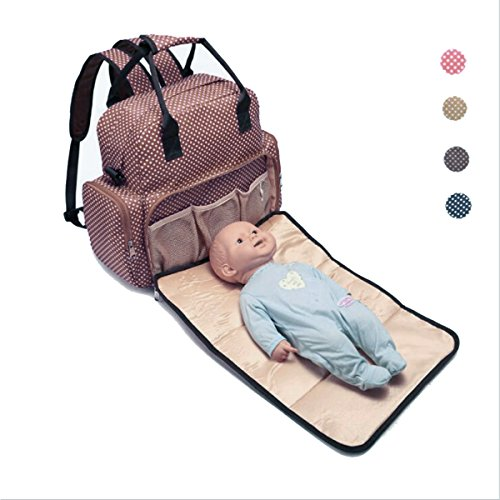 Diaper Bag Backpack With Diaper Changing Pad Multi-Function Waterproof Travel Backpack Nappy Bags for Baby Care (Coffee) by Univegrow
