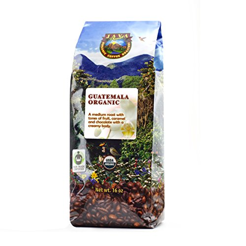 Free Coffee Roast - Java Planet - Guatemalan USDA Gourment Organic Coffee Beans, Medium Roast, Shade Grown, Bird Friendly, Rainforest Alliance, Arabica Gourmet Specialty Grade A - packaged in 1 LB bag