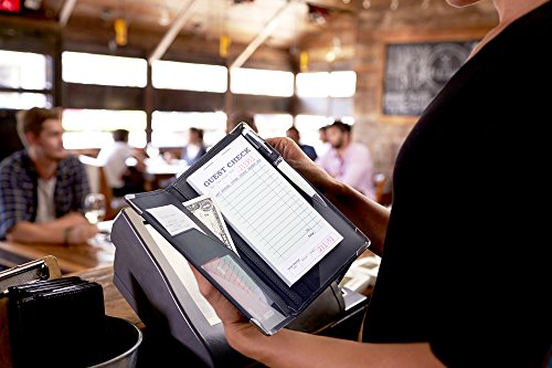 Deluxe Server Book Organizer for Restaurant Waiter Waitress Waitstaff   Comfortably Fits in Apron   9 Pockets includes Zipper Pouch with Pen Holder   Holds Guest Checks, Money, Order Pad by Sonic Server (Image #8)