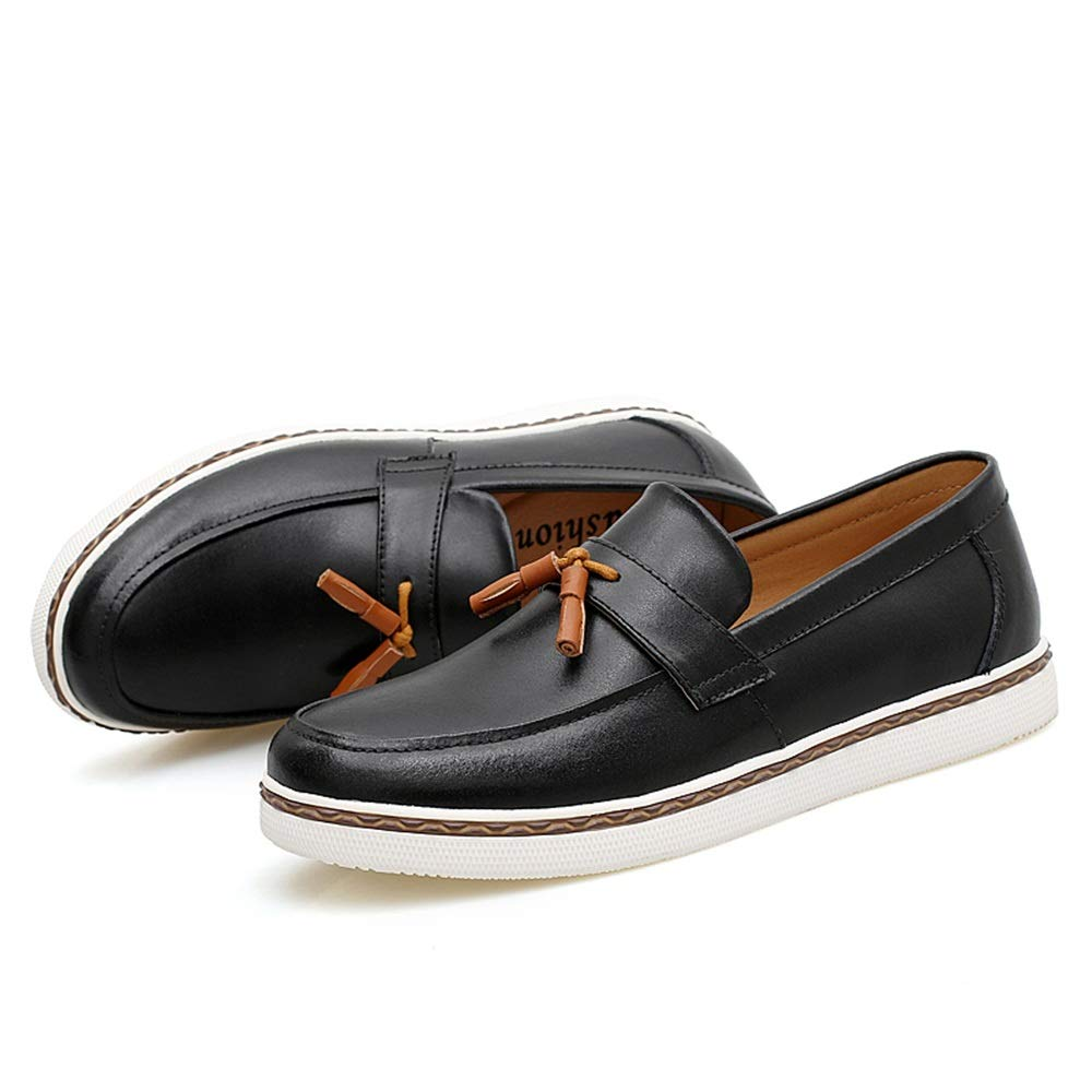 Shoes Mens PU Leather Shoes Classic Slip-on Tassel Decoration Breathable Formal Business Men Shoes