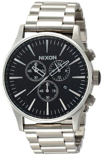 Nixon Sentry Chrono Watch - Black