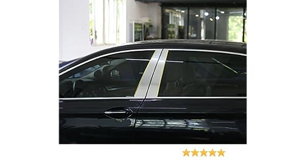4pcs/set aleación de aluminio ventana decoración de pilar Post stirps de coche pegatinas: Amazon.es: Coche y moto