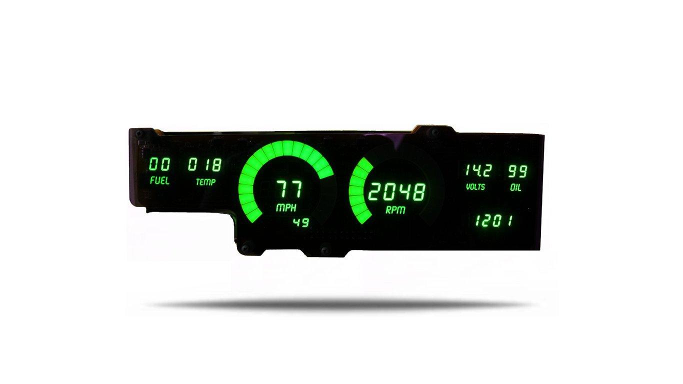 Intellitronix Corp. Cutlass 78-88 LED Digital Gauge Panel (Green)
