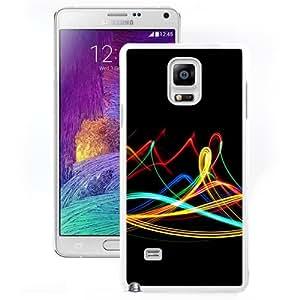 New Beautiful Custom Designed Cover Case For Samsung Galaxy Note 4 N910A N910T N910P N910V N910R4 With Neon Waves (2) Phone Case