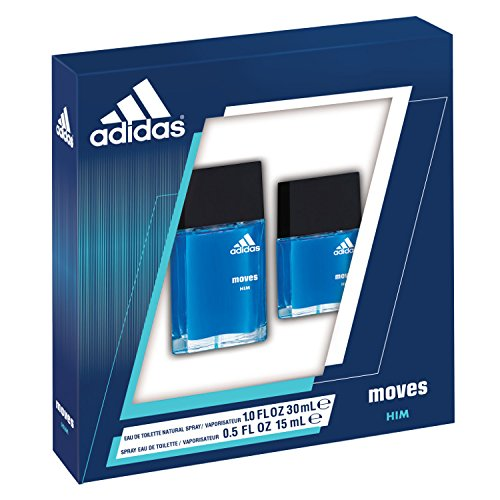 Adidas Moves by Coty for Men 2 Piece Set 1.0 oz EDT Spray + 0.5 oz EDT Spray